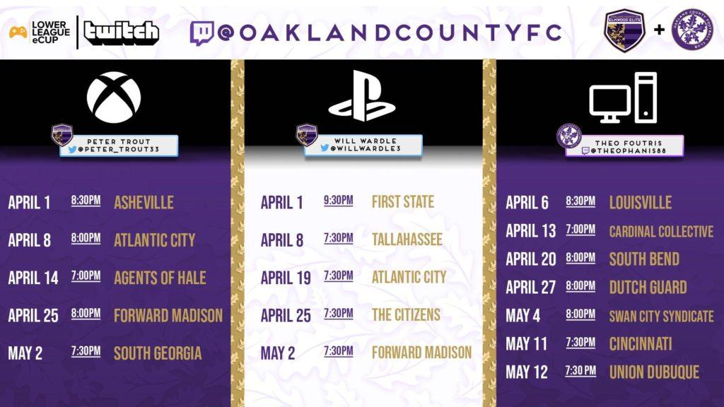 eSports Schedule